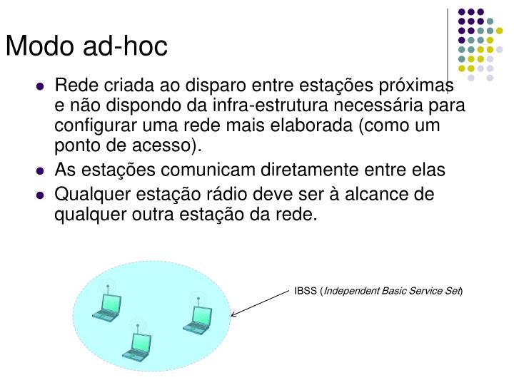 Modo ad-hoc