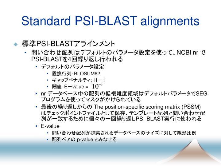 Standard PSI-BLAST alignments