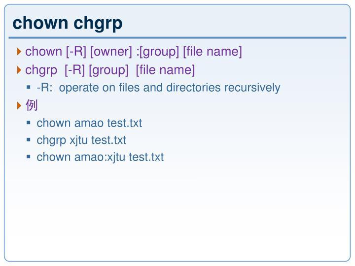 chown chgrp