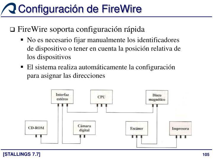 Configuración de FireWire