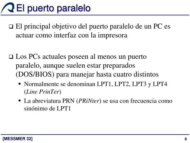 El puerto paralelo