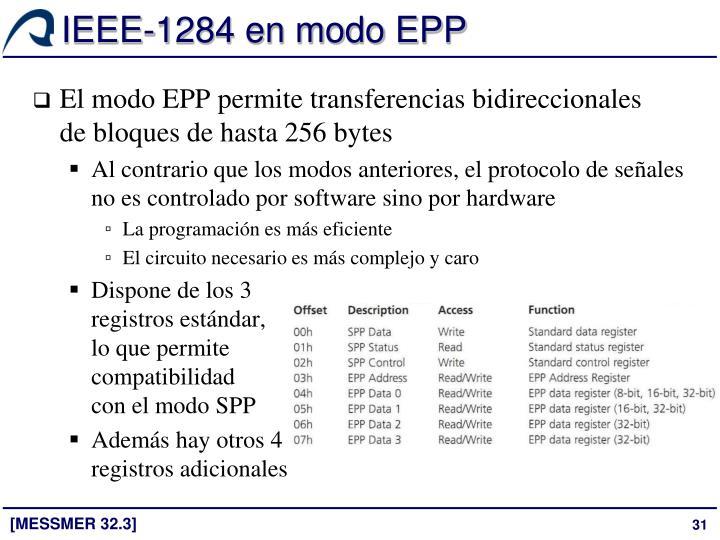 IEEE-1284 en modo EPP