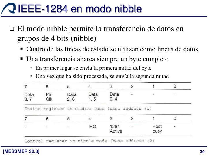 IEEE-1284 en modo nibble