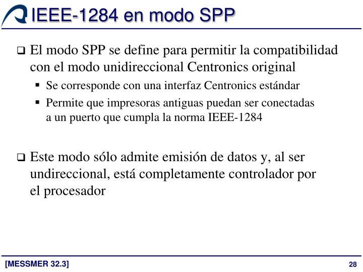IEEE-1284 en modo SPP