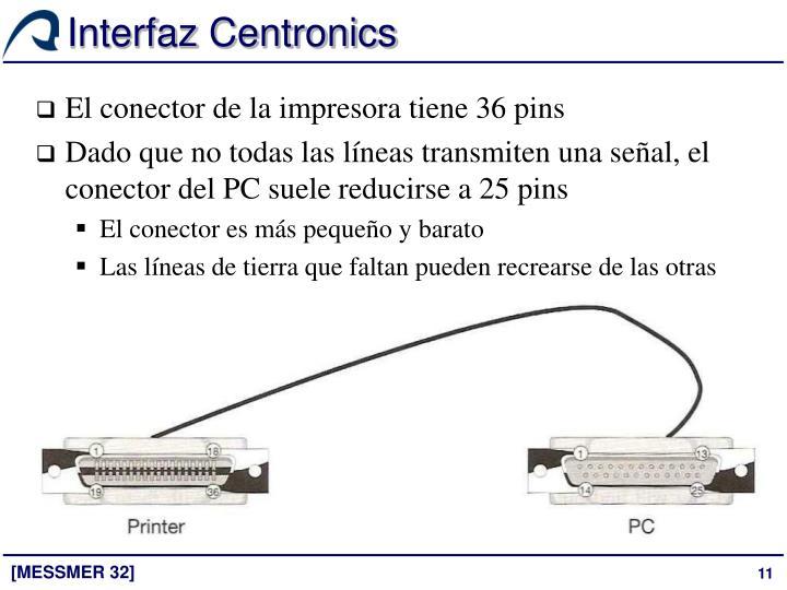 Interfaz Centronics
