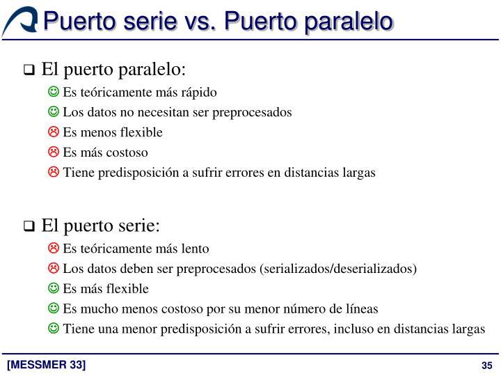 Puerto serie vs. Puerto paralelo