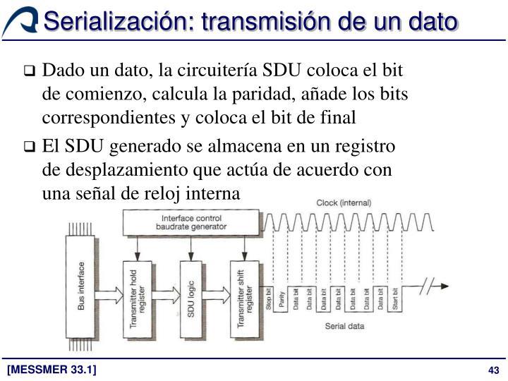 Serialización: transmisión de un dato