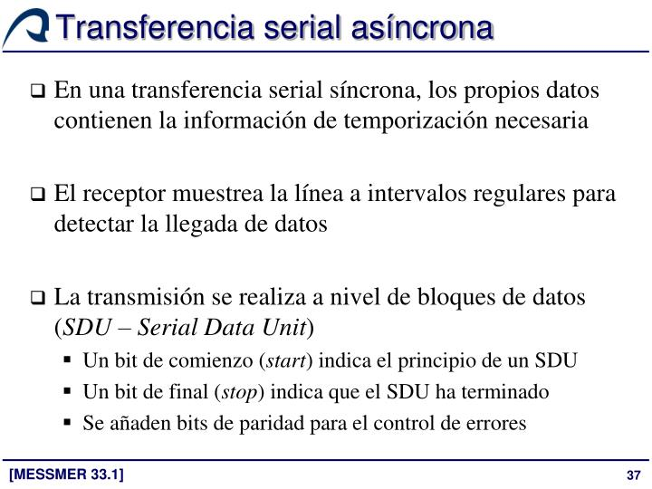 Transferencia serial asíncrona