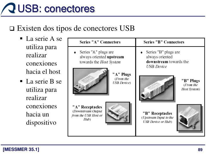 USB: conectores
