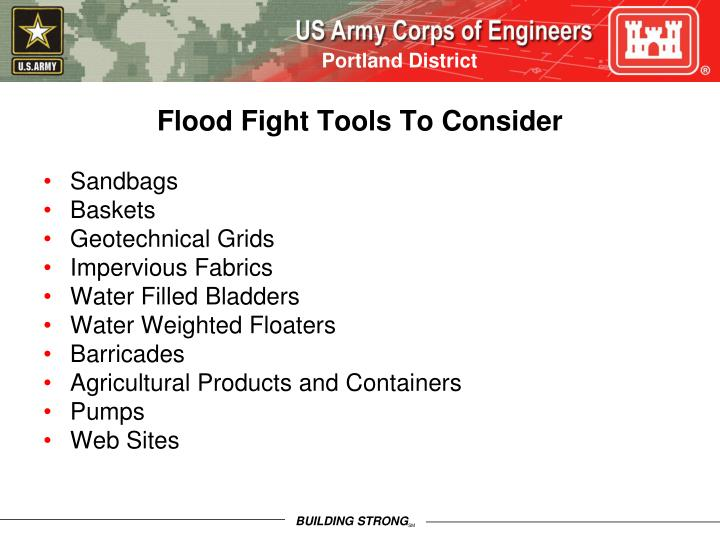 Flood Fight Tools To Consider