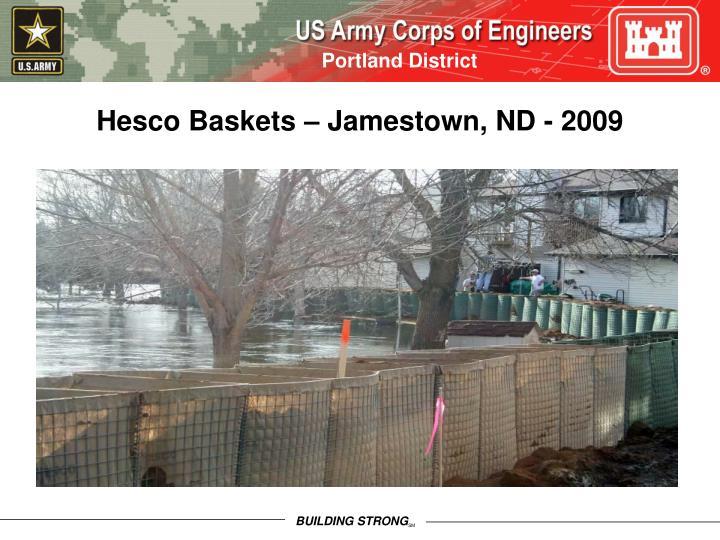 Hesco Baskets – Jamestown, ND - 2009