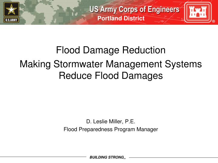 Flood Damage Reduction