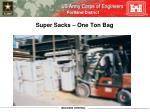 super sacks one ton bag