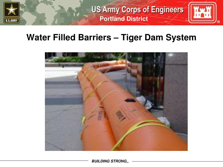 Water Filled Barriers – Tiger Dam System