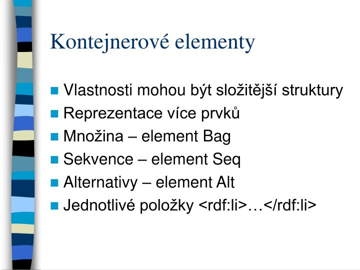 Kontejnerové elementy