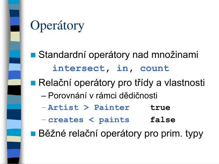 Operátory