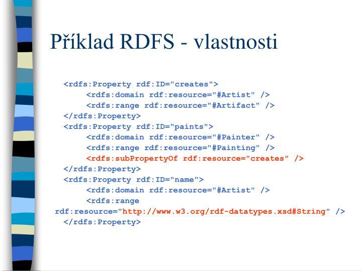 Příklad RDFS - vlastnosti