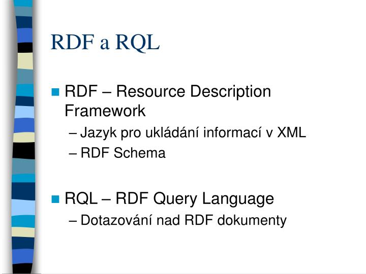 RDF a RQL