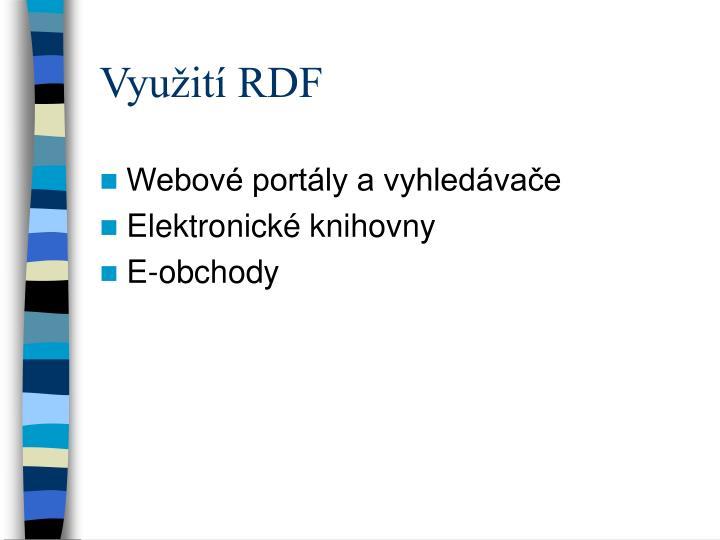 Využití RDF