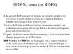 rdf schema or rdfs