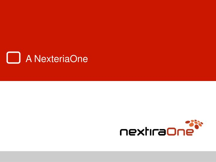 A NexteriaOne