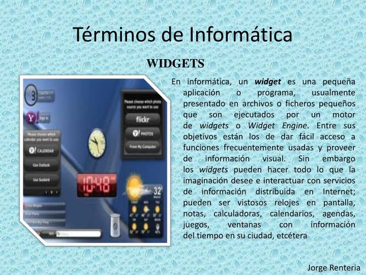 Términos de Informática