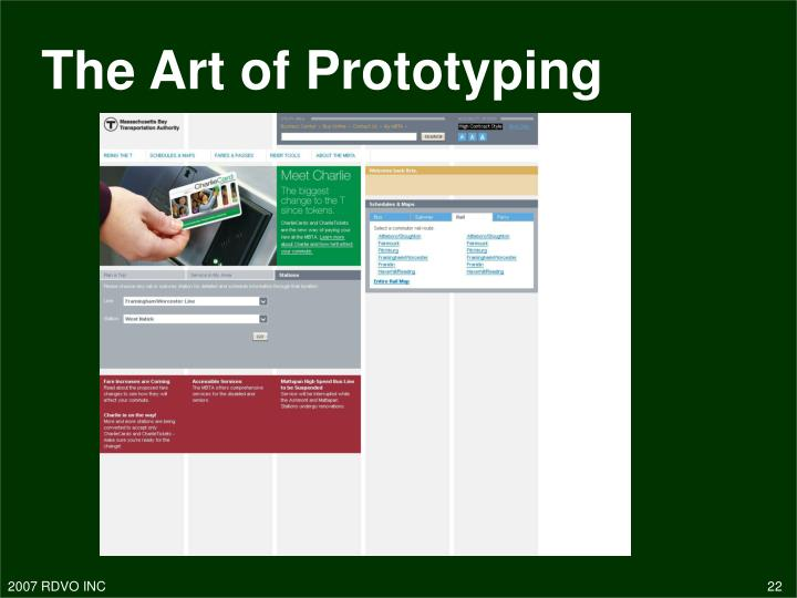 The Art of Prototyping