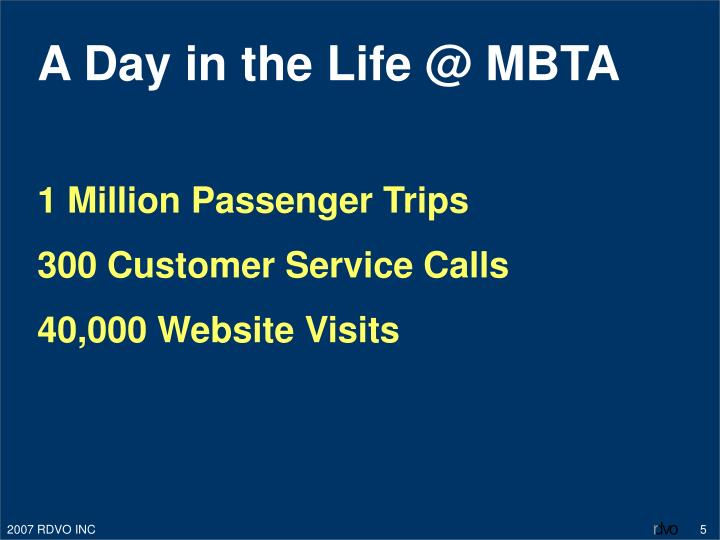 A Day in the Life @ MBTA