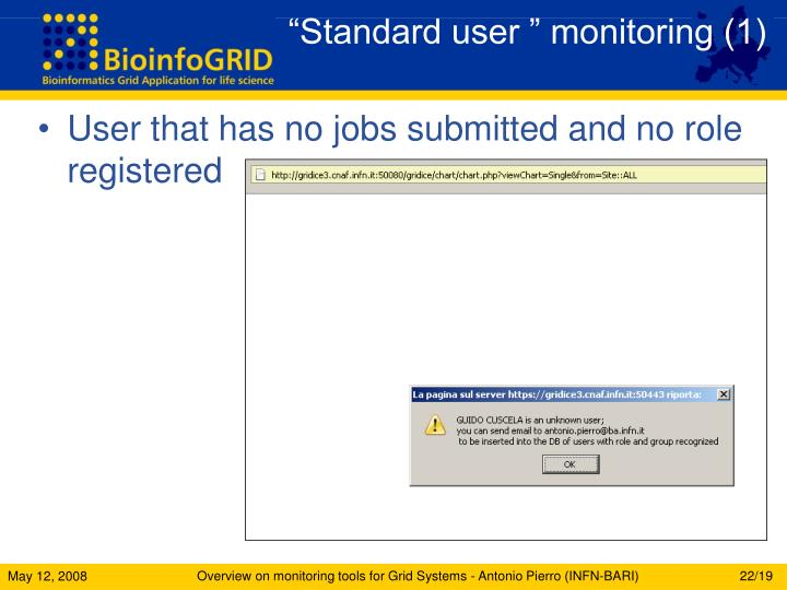 """Standard user "" monitoring (1)"