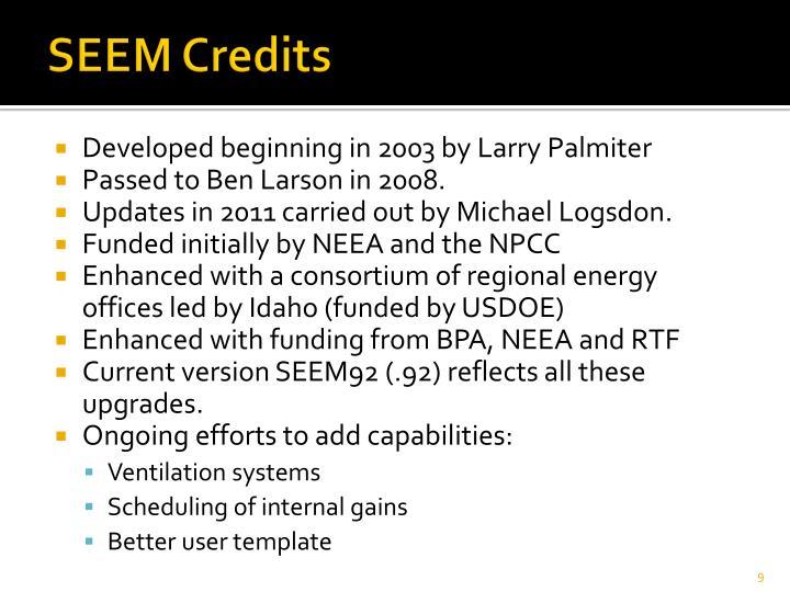 SEEM Credits