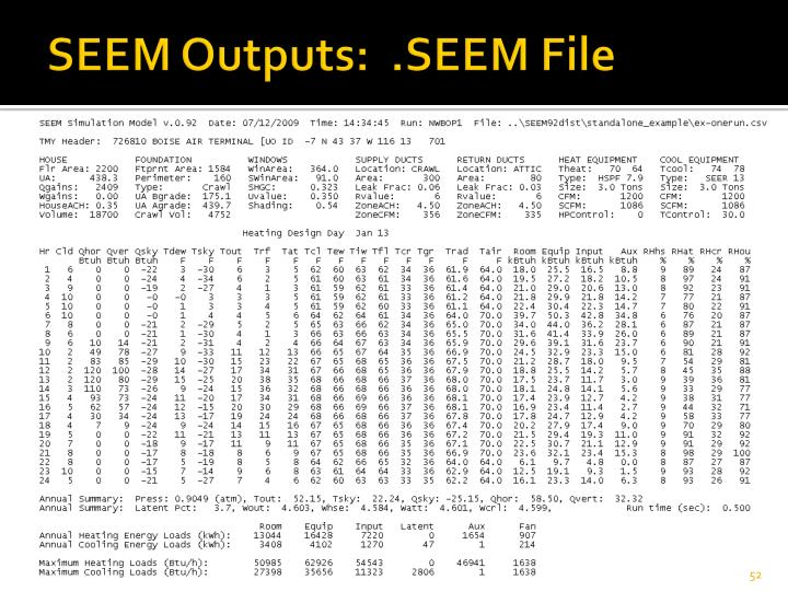 SEEM Outputs:  .SEEM File