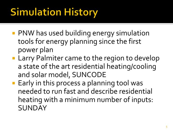 Simulation History