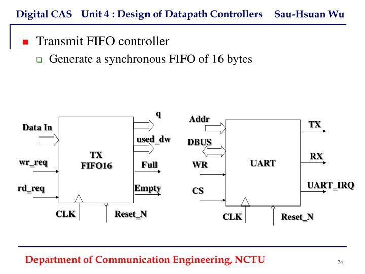 Transmit FIFO controller