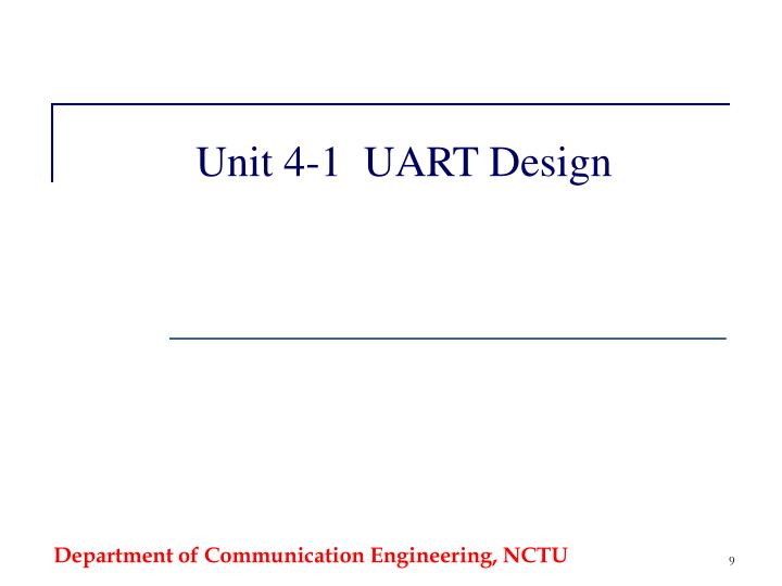 Unit 4-1  UART Design