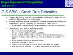 gis spis crash data difficulties