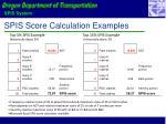 spis score calculation examples