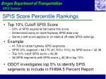 spis score percentile rankings