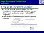 spis segment sliding window