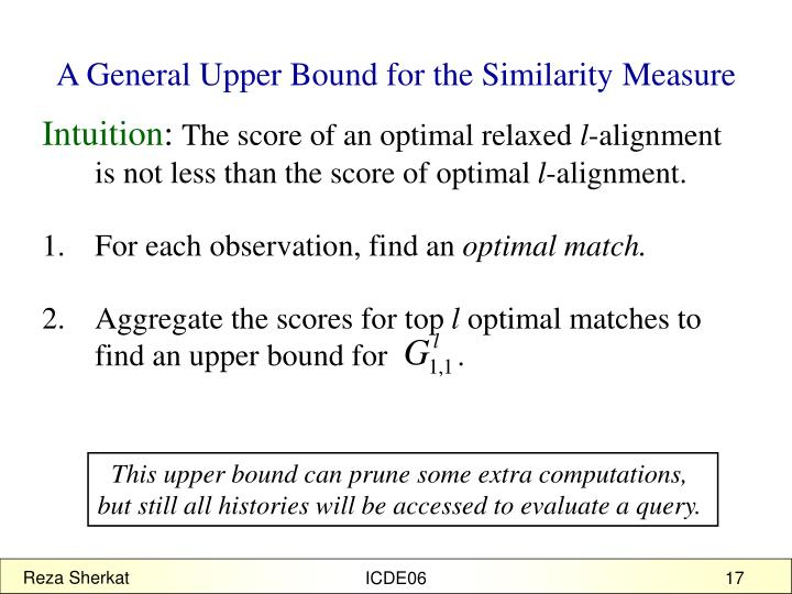 A General Upper Bound for the Similarity Measure