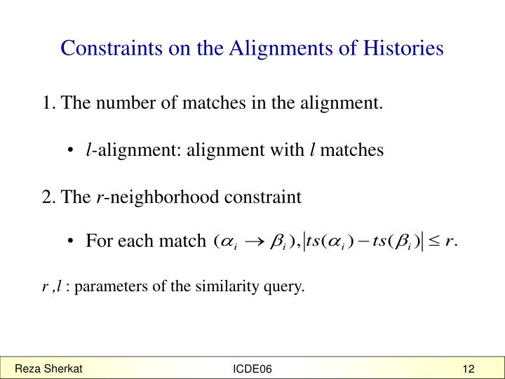 Constraints on the Alignments of Histories