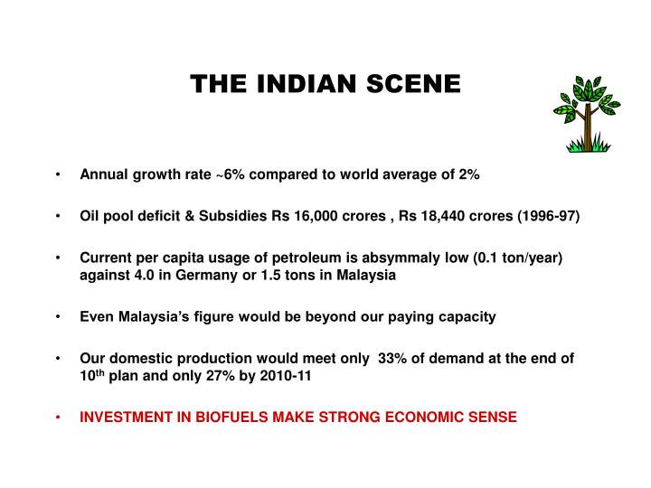 THE INDIAN SCENE