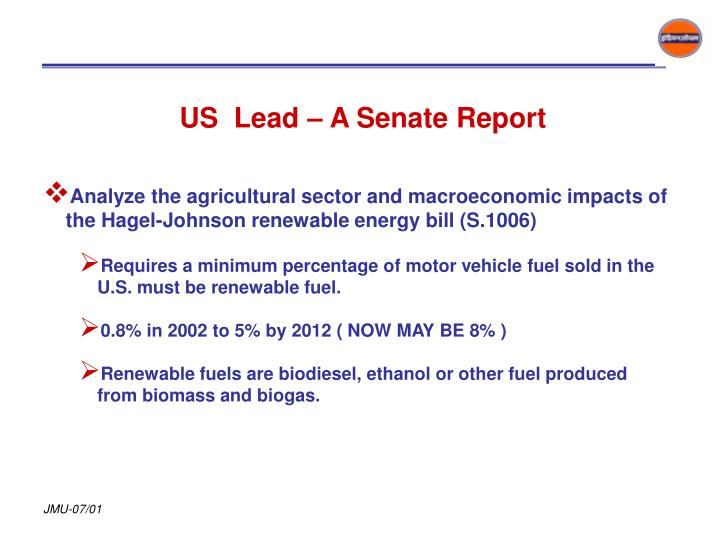 US  Lead – A Senate Report