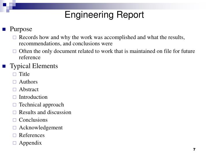 Engineering Report