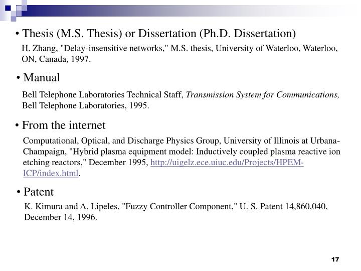 Thesis (M.S. Thesis) or Dissertation (Ph.D. Dissertation)