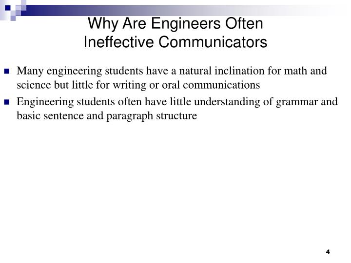 Why Are Engineers Often Ineffective Communicators