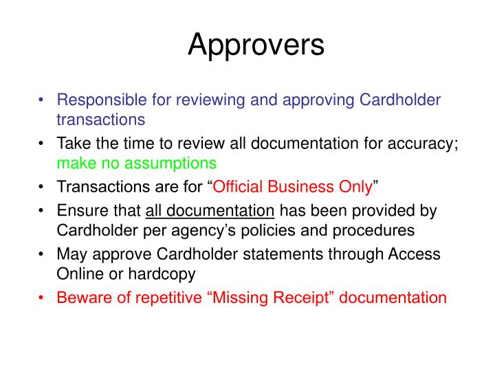 Approvers
