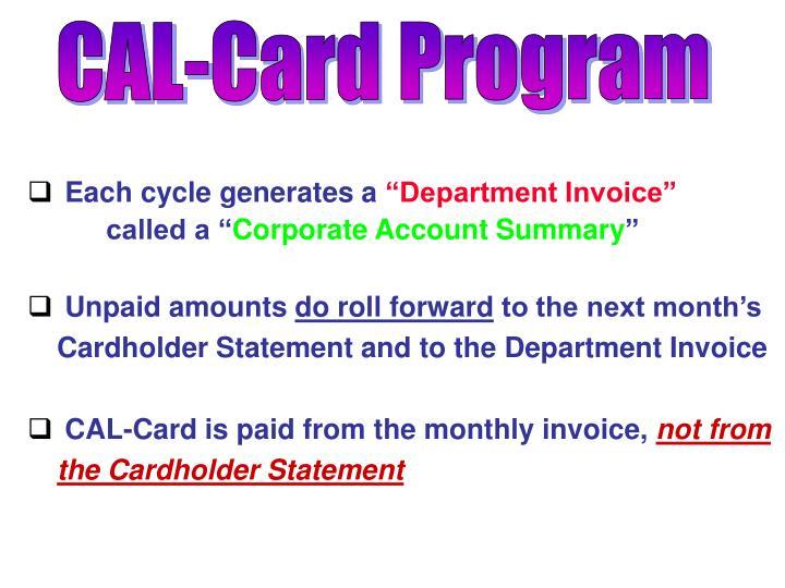 CAL-Card Program
