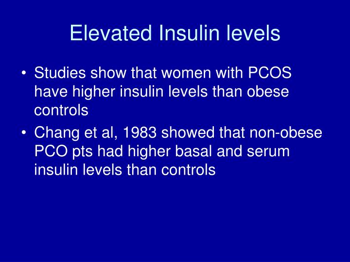 Elevated Insulin levels