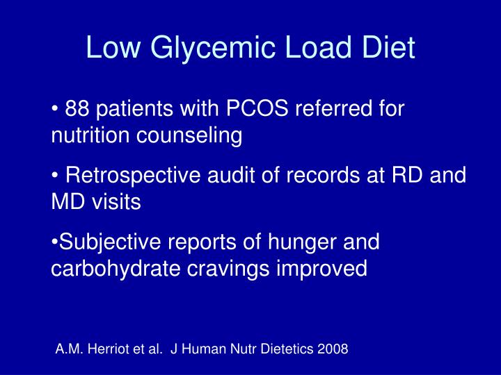 Low Glycemic Load Diet