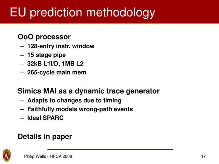 EU prediction methodology
